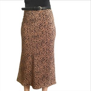 NWT Audrey 3 + 1 Leopard Print Julie Midi Skirt